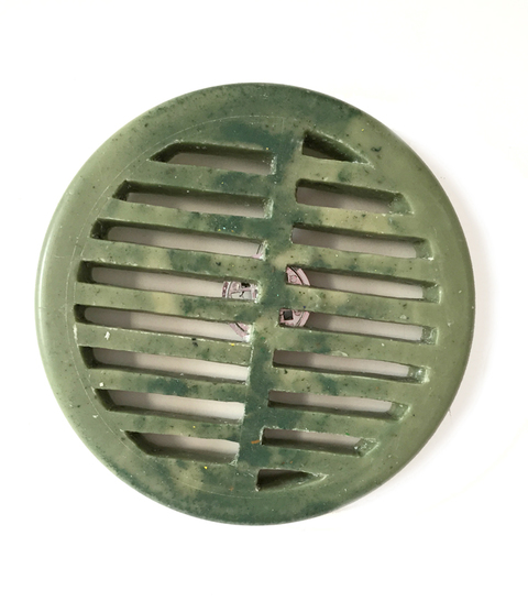 Cast Wax Hard carved paraffin and metal drain