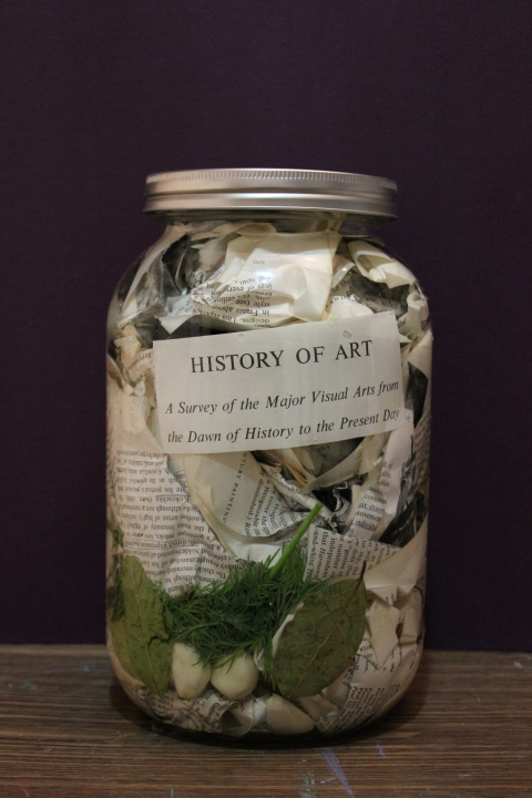 "HAPPY ART HISTORY!  ""PICKLED ART HISTORY""."