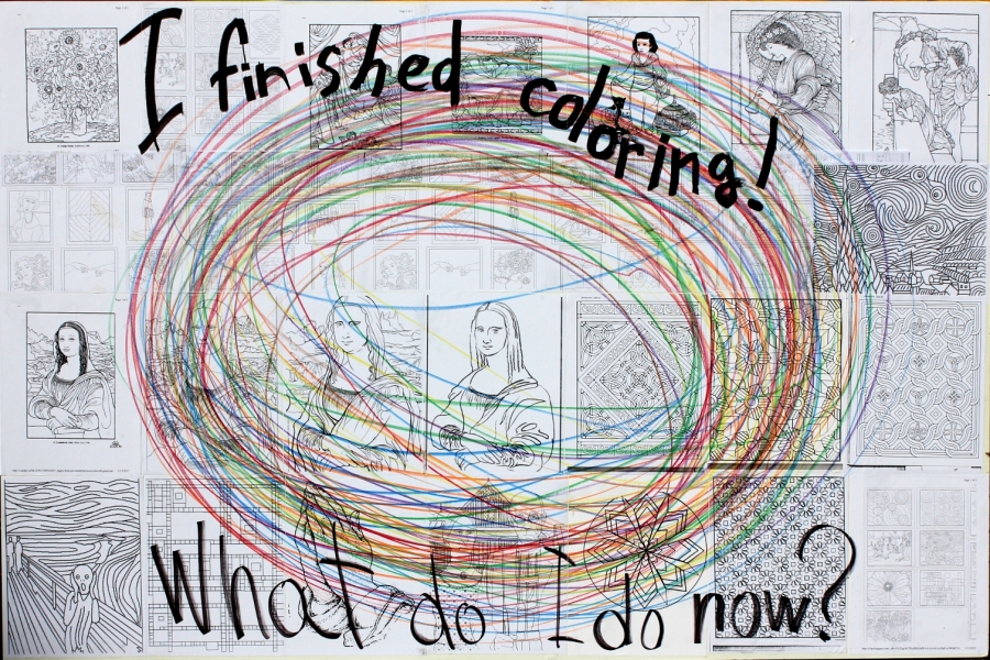 "HAPPY ART HISTORY!  ""I FINISHED COLORING, WHAT DO I DO NOW?"""