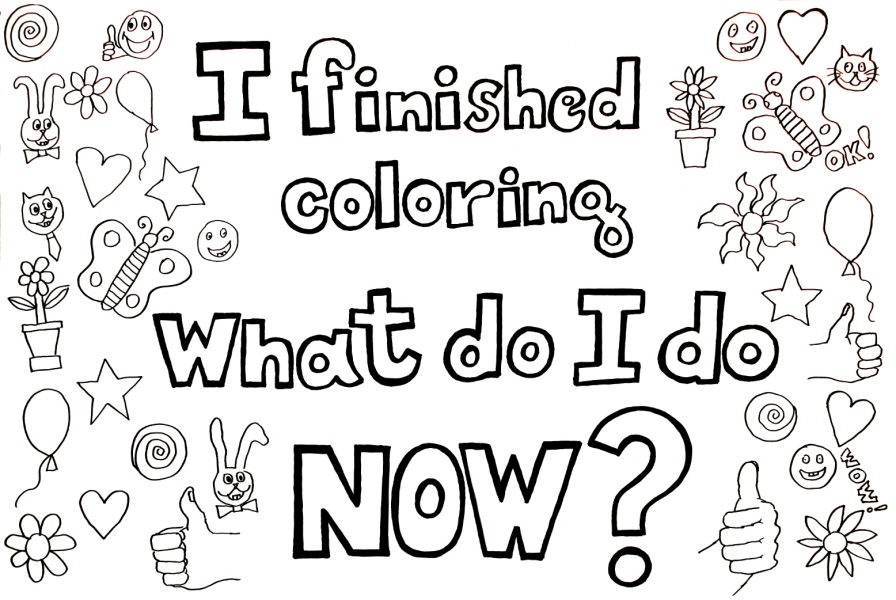 "HAPPY ART HISTORY!  ""WHAT DO I DO NOW?"" COLORING PAGE (TALKING CANVASES)"