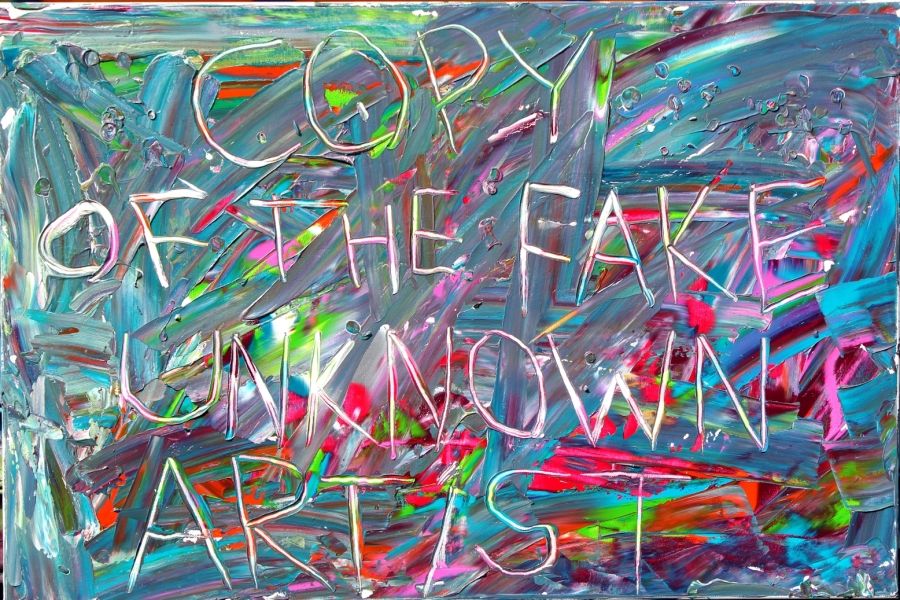 "HAPPY ART HISTORY!  ""COPY OF THE FAKE UNKNOWN ARTIST""."