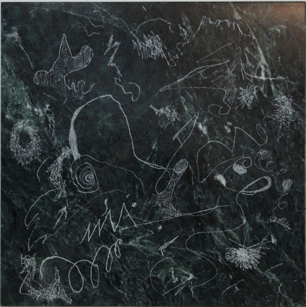 "HAPPY ART HISTORY!  ""MARBLE SCRIBBLE SCRABBLE""."