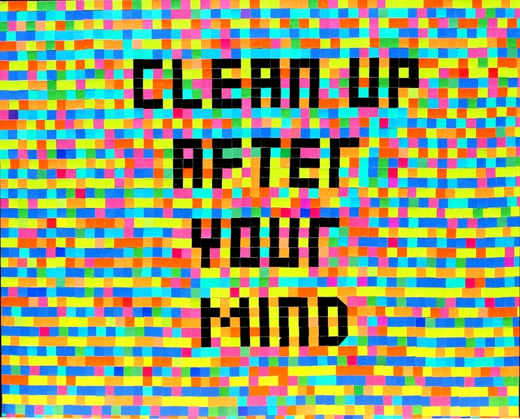 "I  SURVIVED INFORMATION "" CLEAN UP AFTER YOUR MIND ""."