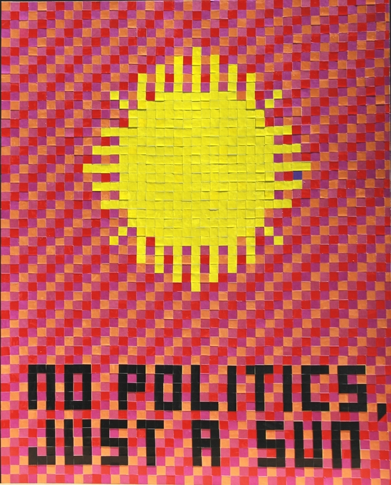 "I  SURVIVED INFORMATION "" NO POLITICS , JUST A SUN ""."