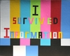 I  SURVIVED INFORMATION Construction Paper on Board on Wooden Frame