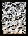 I  SURVIVED INFORMATION Bas Relief Crossword  Papier Mache on Board.