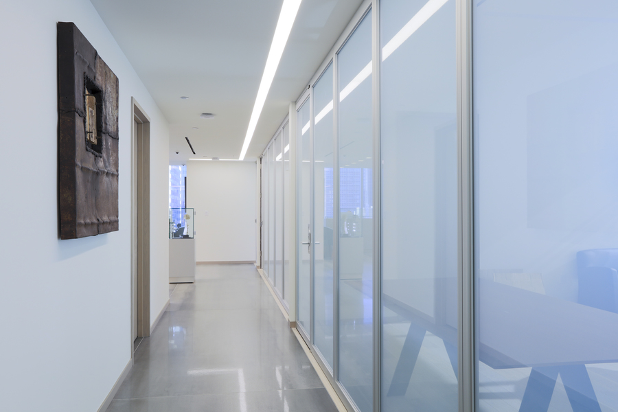 IGT Offices, NYC Aluminum Partitions with Switchable Privacy Glass
