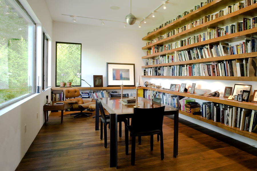 Interiors River House - Library