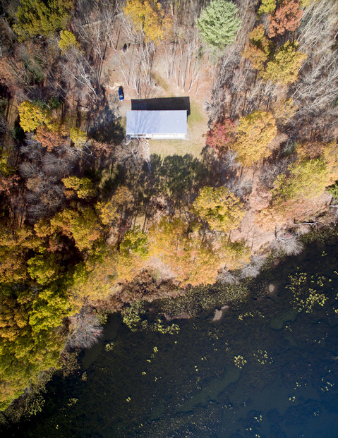 Aerial Views Lake House