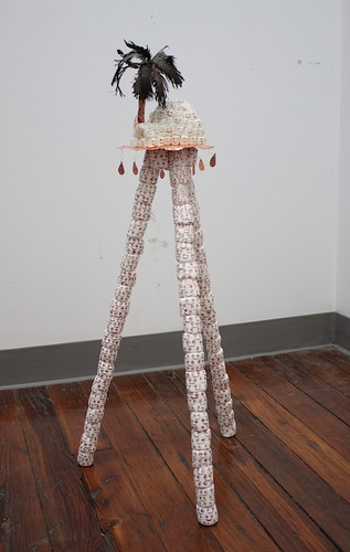 Branden Koch webs and oracles steel, epoxy, copper, marshmallows, acrylic, hot glue