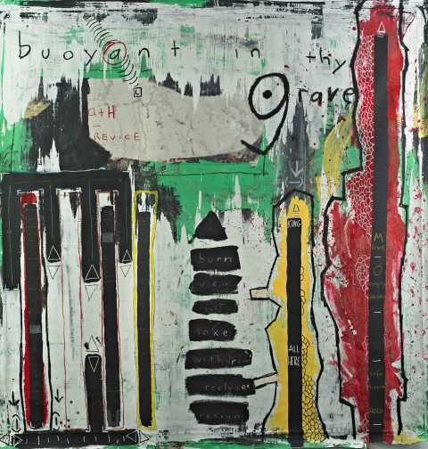 Brian Buzzella Earlier works acrylic, oil stick on canvas