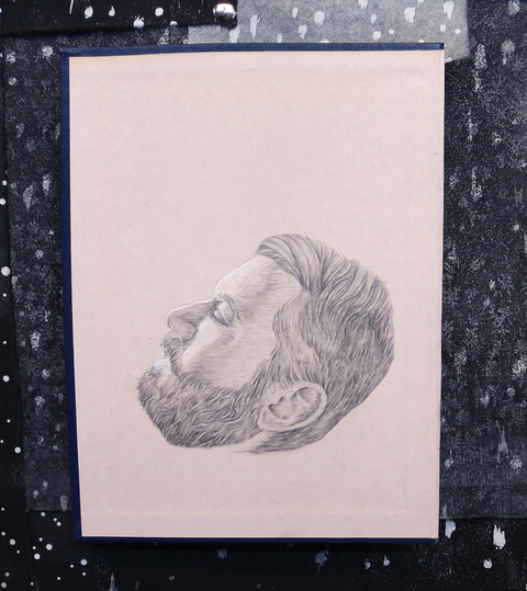 Brian Hitselberger Projects Graphite on found surface