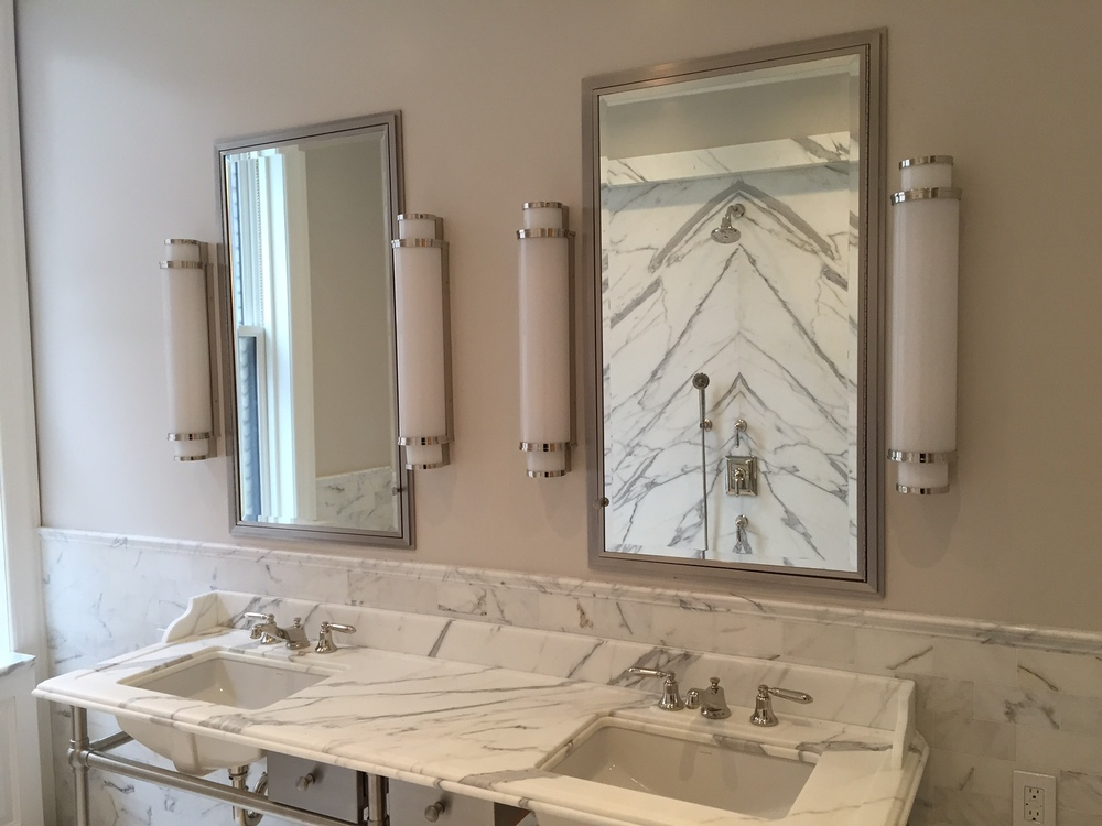 Nickel plated brass vanity