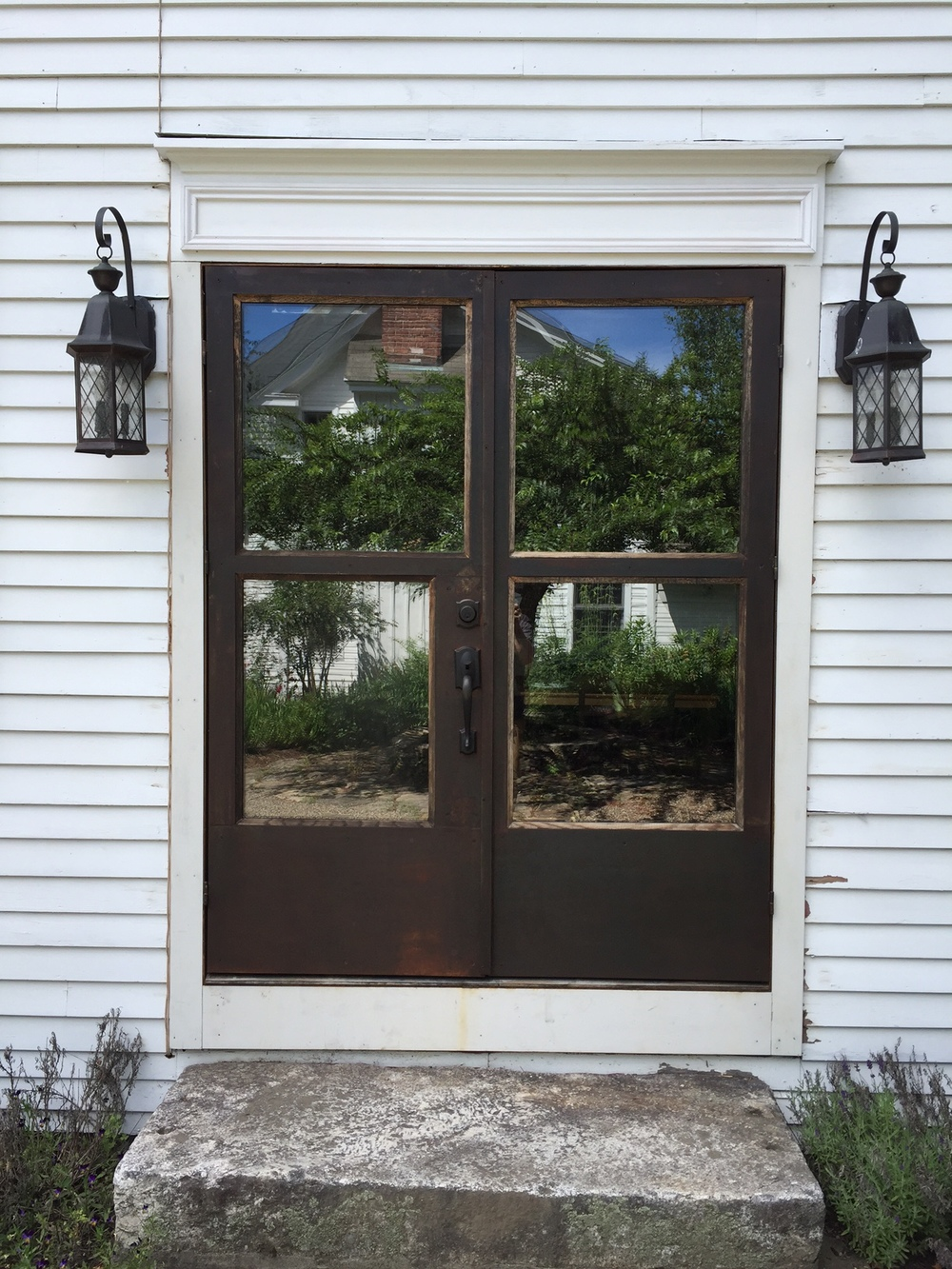 Steel and oak doors