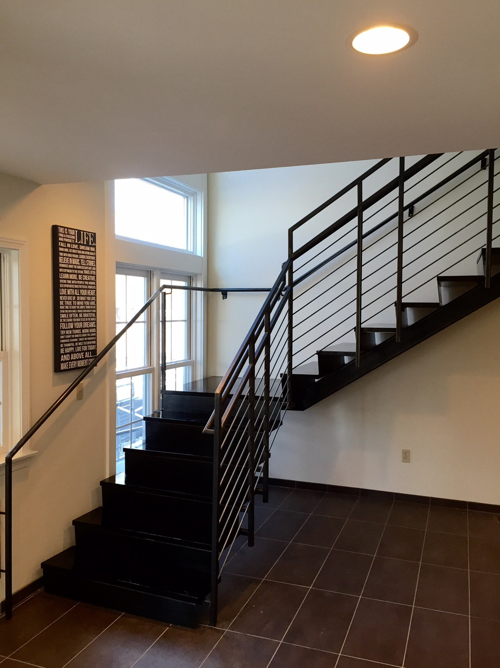 21 BRIDGE DESIGN  Blackend steel stair and railing<br/>
