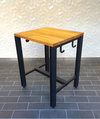 Featured projects powdercoated solid aluminum, wood top
