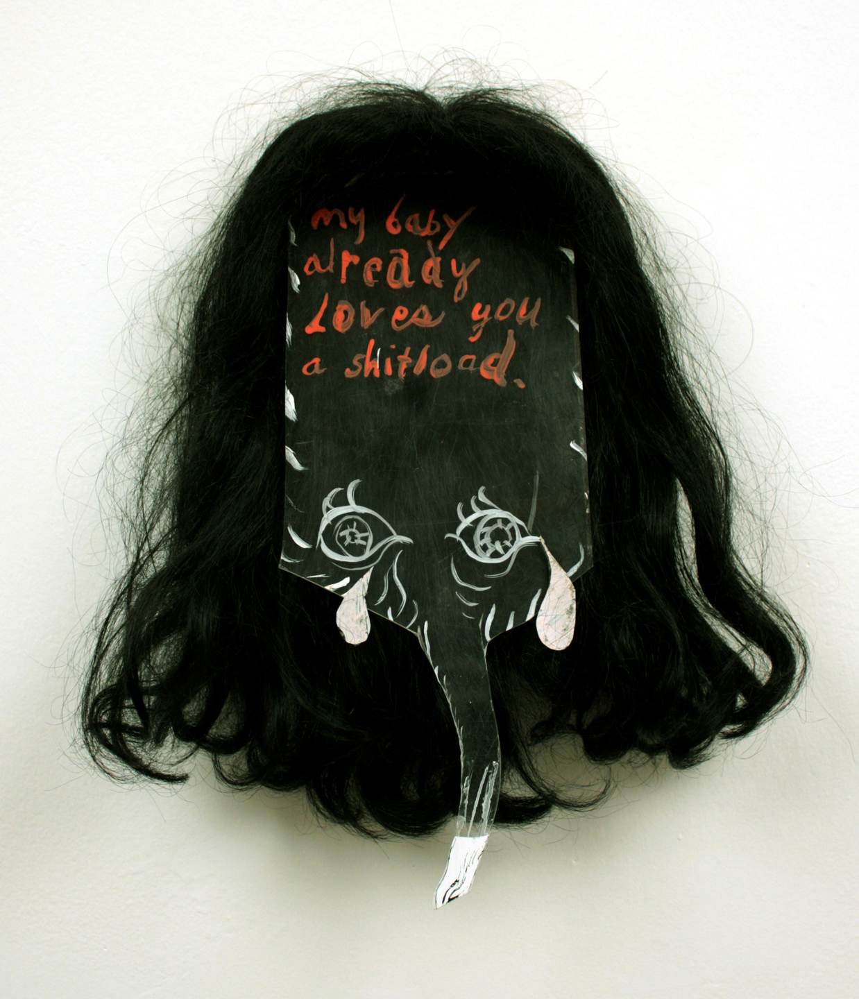 Bridget Mullen Archive Plexiglass, hair, acrylic paint, nails, tar paper