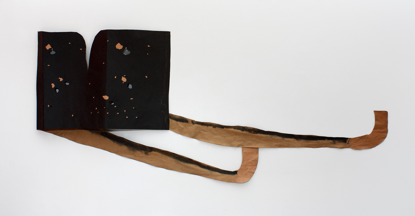 Bridget Mullen Archive Acrylic paint, tar paper, brown paper, ink