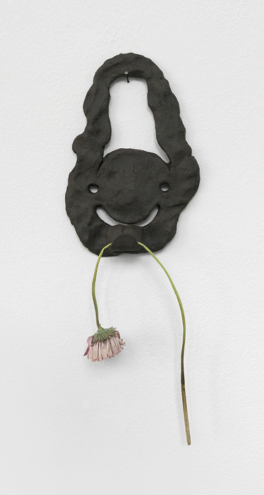 Bridget Mullen New Work Fired clay and flower
