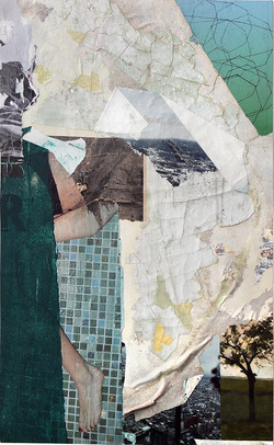 Paul Bright 2016 collage/decollage
