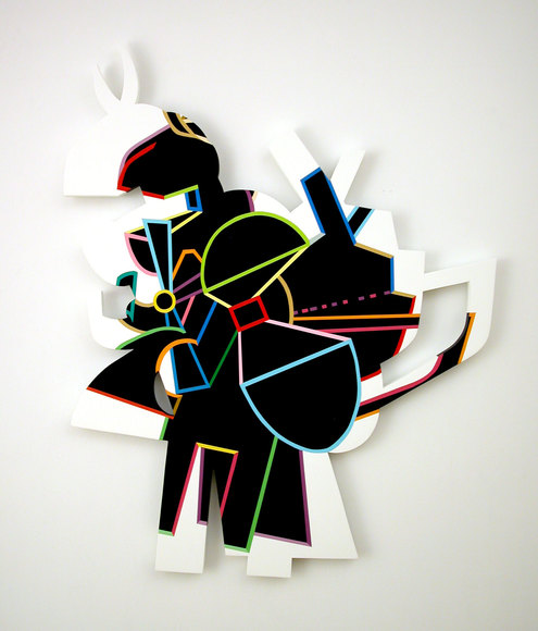 Bruce Brosnan 2008 - 2006 Acrylic paint on MDF