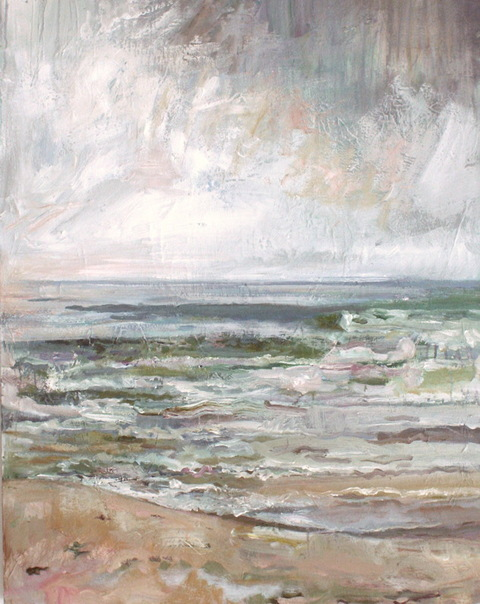 WAVES seawater, acrylic and oil on linen
