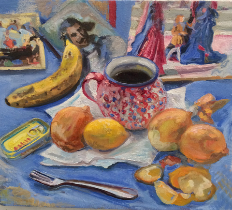 BRUCE LIEBERMAN STILL LIFE oil