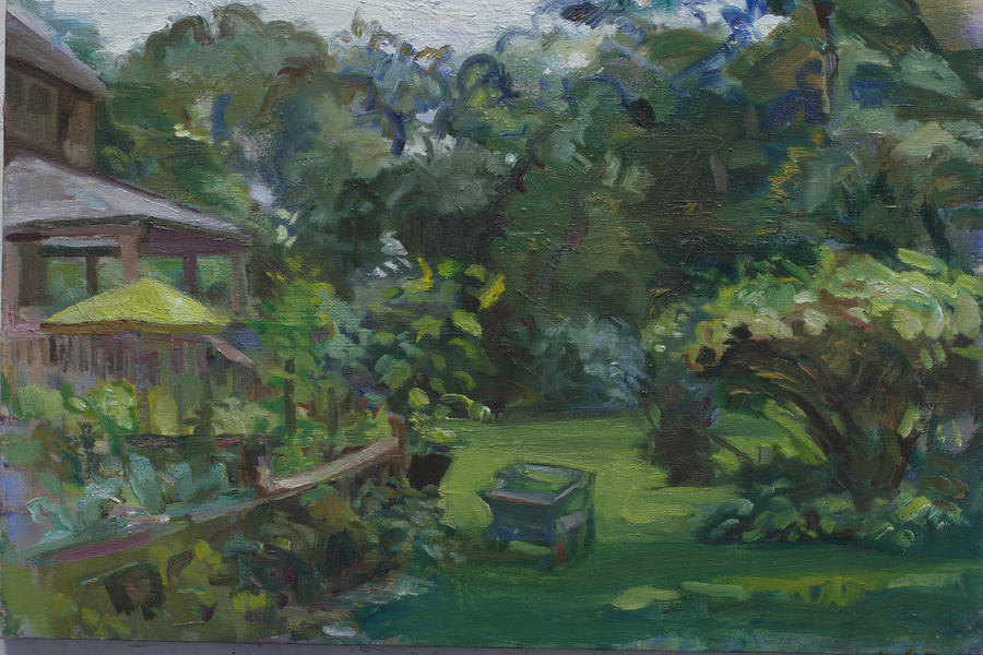 GREEN  Rough Yard with Cart