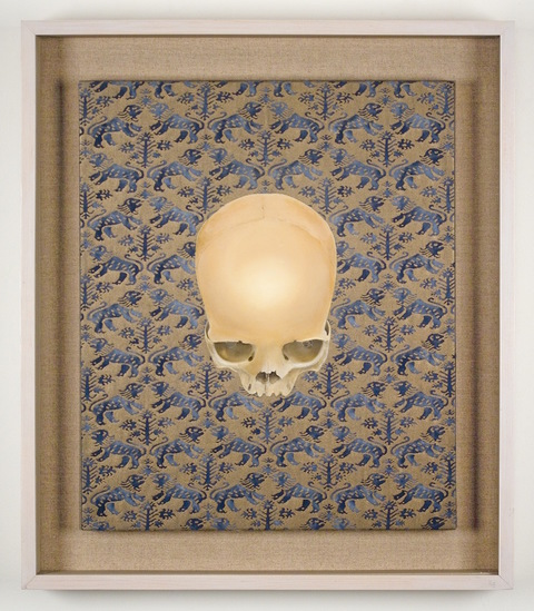 "Bruce Richards Winter Thoughts - 2009 - 2012 oil on Fortuny ""Richelieu"" cotton"