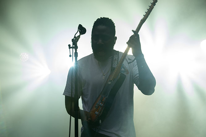 Music Bloc Party performs at the Governors Ball Music Festival