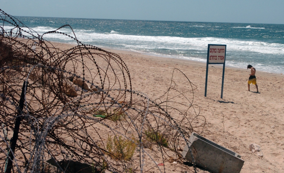 Gaza Strip and Israel Katif Bloc Beaches