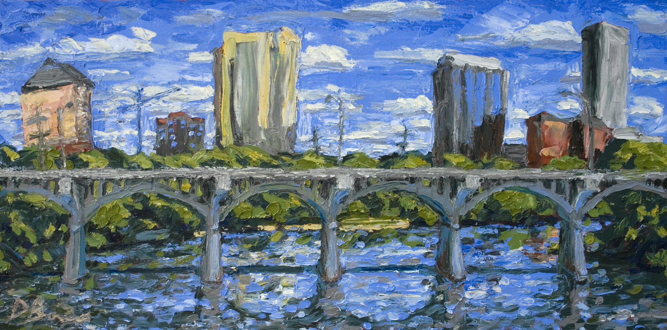 Austin Paintings Congress Avenue Bridge