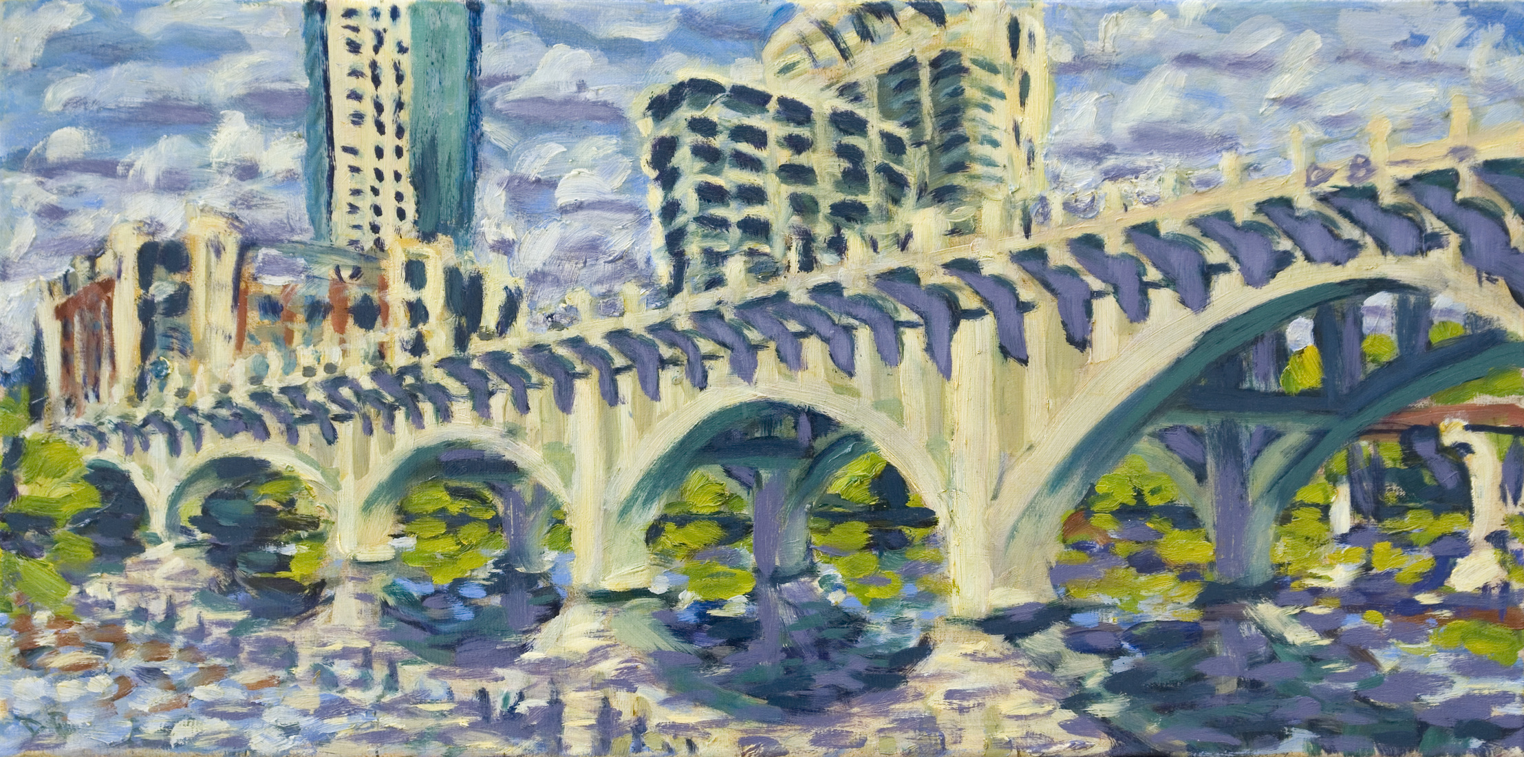 Austin Paintings Lamar Bridge