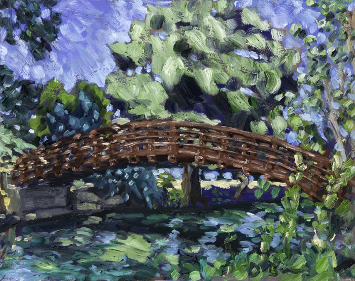 Austin Paintings Shoal Creek Pedestrian Bridge