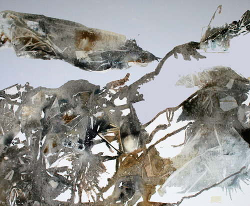 Jane Burton Entangled Particles Acrylic, Inks and Dyes on canvas