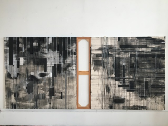 Cair Crawford Fonds 2018 acrylic/canvas/wood