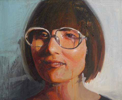 Drawings and Portraits oil on canvas