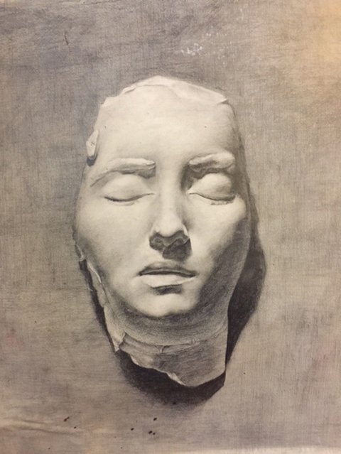 Drawings and Portraits Death Mask