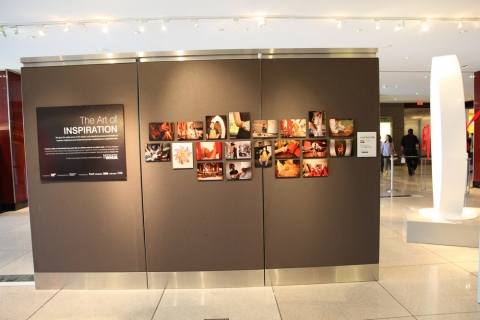 """the art of inspiration"" View of the Gallery Signage."