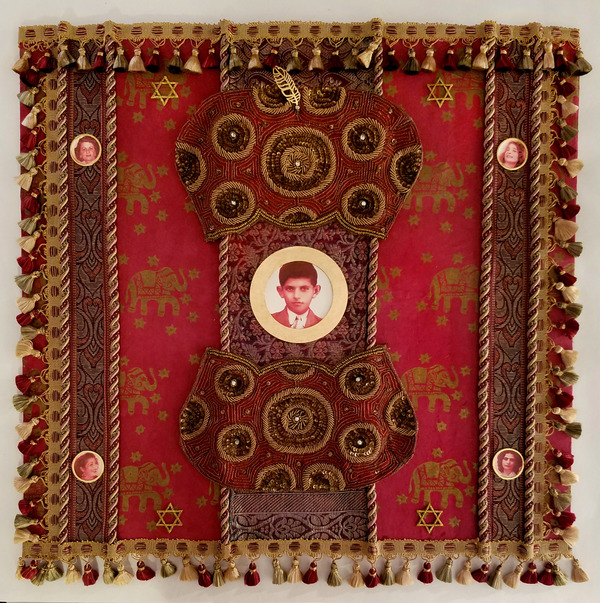 camille eskell Magic Carpet Ride: Little Maharajah Digital imagery, paper, textile trim, mixed media