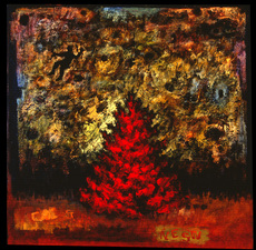 Christine Cardellino Gallery: Trees and Towers Acrylic/Mixed on Canvas