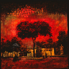 Christine Cardellino Gallery: Trees and Towers Acrylic Mixed on Canvas