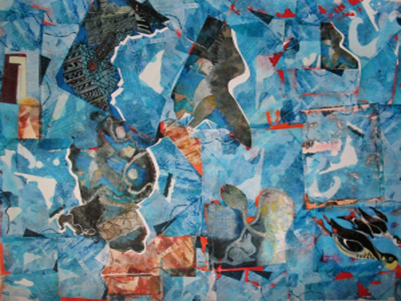 Cari Rosmarin collages collage/board