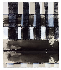 CARLA AURICH Drawings 2014- Fossil and Limestone sumi ink, printing ink and qouache on bfk