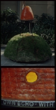 Carlos D. Szembek Works Resin, cast iron, light, dirt, grass and poppies