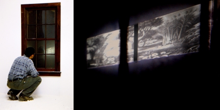 Carlos D. Szembek Works Powdered sugar, window, slide projection, audio