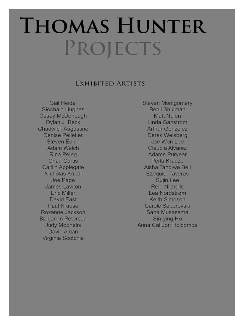 "Catalogues / Publications ""Thomas Hunter Projects: Exhibited Artists."""