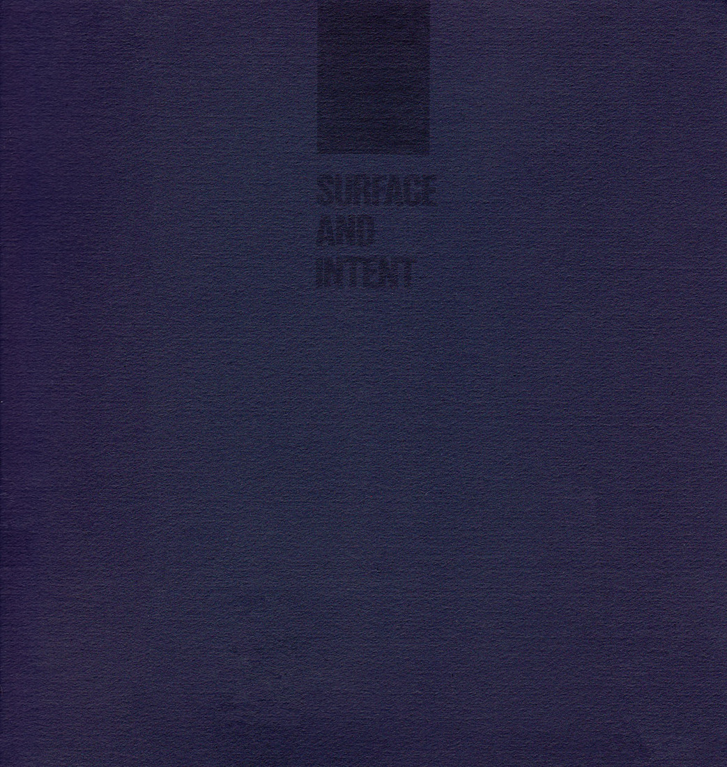 "Catalogues / Publications High, Steven. ""Surface and Intent."""