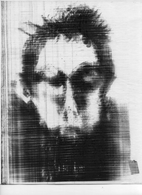 carol greenwood Self Portraits Gen II powdered pigment on clear polyester film
