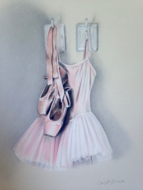 Carol Gromer Fine Art Ballet Conte and Charcoal on Paper